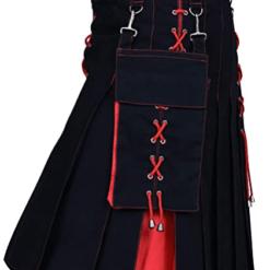 Hybrid Kilt Black Red