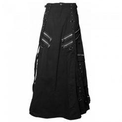 Gothic Steampunk Black Kilt